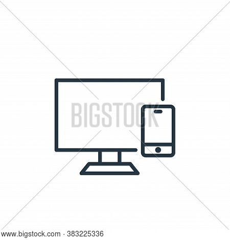 monitor icon isolated on white background from smart devices collection. monitor icon trendy and mod