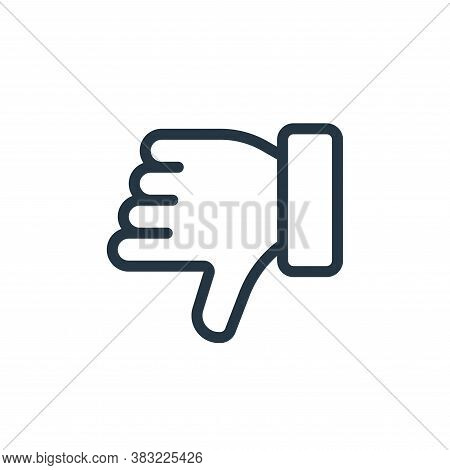 dislike icon isolated on white background from ecommerce shopping collection. dislike icon trendy an