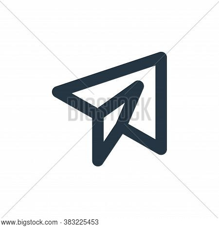paper plane icon isolated on white background from email collection. paper plane icon trendy and mod