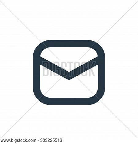 mail icon isolated on white background from email collection. mail icon trendy and modern mail symbo