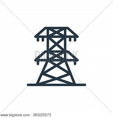 electric tower icon isolated on white background from ecology line collection. electric tower icon t