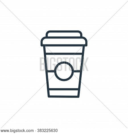 coffee cup icon isolated on white background from food collection. coffee cup icon trendy and modern