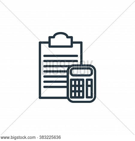 budget icon isolated on white background from finance collection. budget icon trendy and modern budg