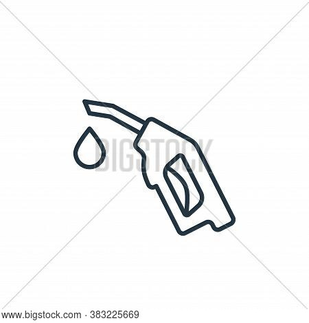 nozzle icon isolated on white background from oil industry collection. nozzle icon trendy and modern