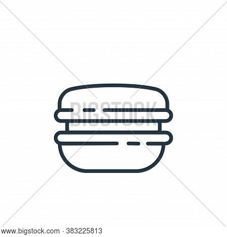 burger icon isolated on white background from food collection. burger icon trendy and modern burger
