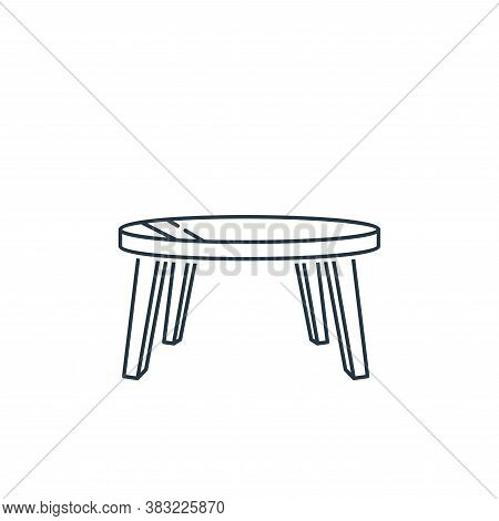 round table icon isolated on white background from household collection. round table icon trendy and