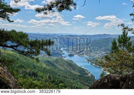 Gerês, Portugal - August 30, 2020 : View Of Cavado River And Peneda-geres National Park, Gerês, Port