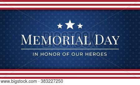 Memorial Day Background Vector Illustration