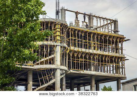 Building Worker In Ulan Bator Asia