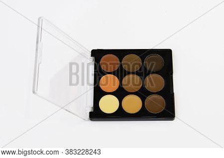 Palette Of Colorful Eyeshadows Makeup Colorful Eyeshadows Palette Background
