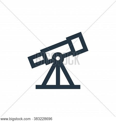 telescope icon isolated on white background from science collection. telescope icon trendy and moder