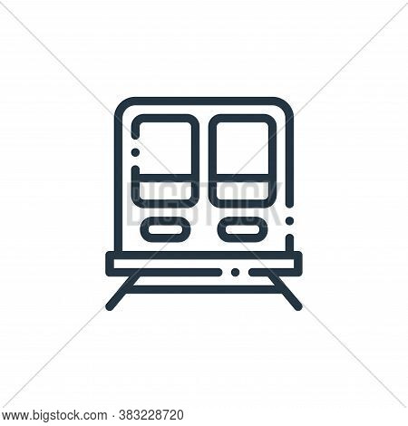train icon isolated on white background from travel and adventure collection. train icon trendy and