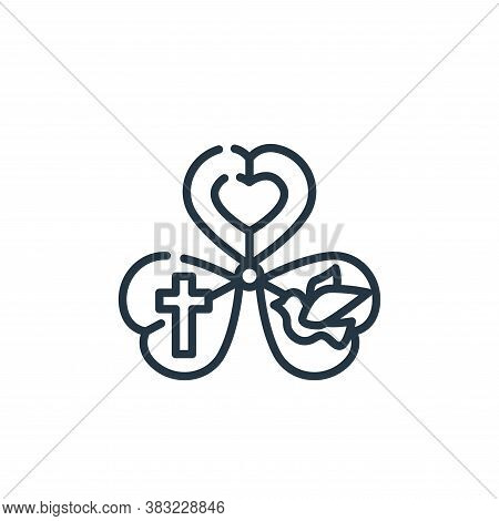 shamrock icon isolated on white background from st patricks day collection. shamrock icon trendy and