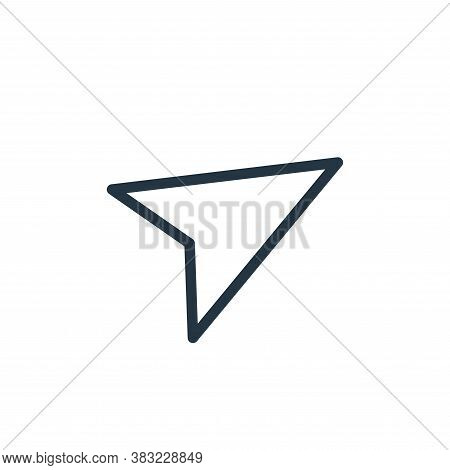 send icon isolated on white background from shopping collection. send icon trendy and modern send sy