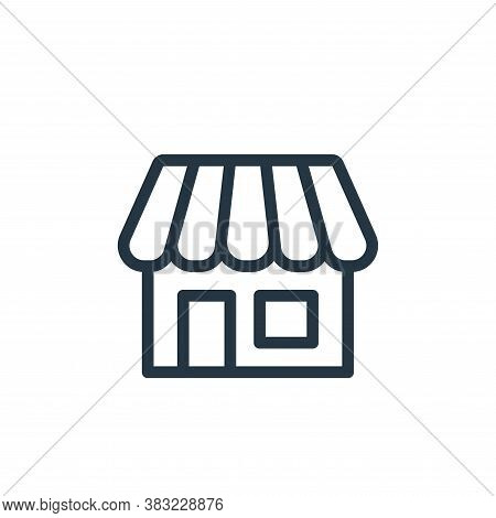 store icon isolated on white background from ecommerce shopping collection. store icon trendy and mo