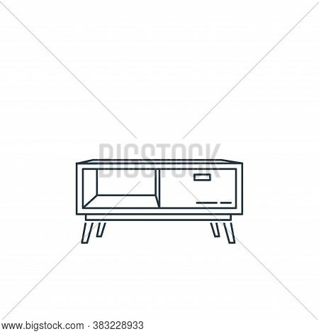 tv stand icon isolated on white background from household collection. tv stand icon trendy and moder