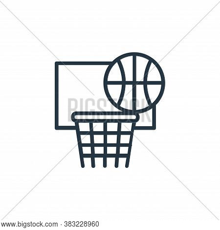 basket icon isolated on white background from sport collection. basket icon trendy and modern basket