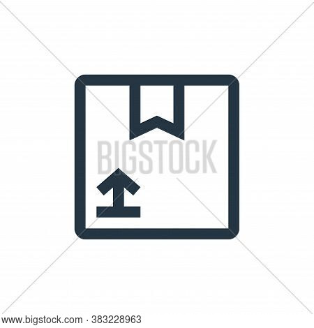 cardboard box icon isolated on white background from industry collection. cardboard box icon trendy