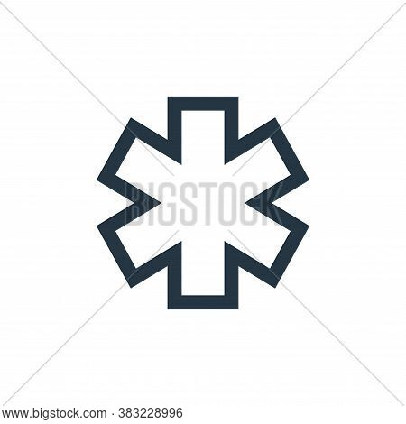 medical sign icon isolated on white background from medical collection. medical sign icon trendy and