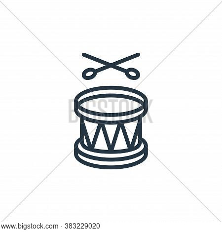 drum icon isolated on white background from ramadan collection. drum icon trendy and modern drum sym