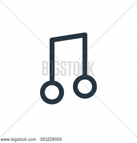 music icon isolated on white background from smartphone ui ux part collection. music icon trendy and