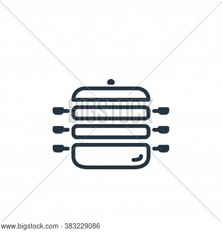 food steamer icon isolated on white background from kitchen collection. food steamer icon trendy and