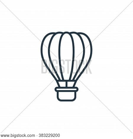 air balloon icon isolated on white background from travel collection. air balloon icon trendy and mo