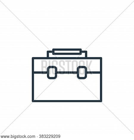 briefcase icon isolated on white background from finance collection. briefcase icon trendy and moder