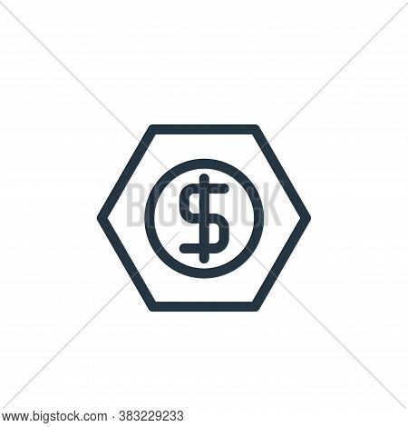 earnings icon isolated on white background from marketing and entertainment collection. earnings ico