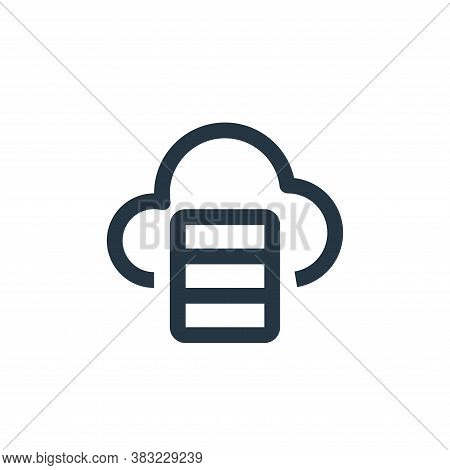 cloud database icon isolated on white background from network collection. cloud database icon trendy