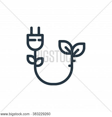 plug icon isolated on white background from ecology line collection. plug icon trendy and modern plu