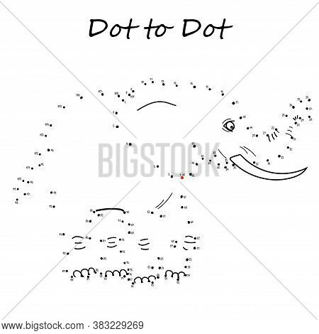 Connect The Dots To Reveal The Elephant In This Dot-to-dot Challenge For Kids. Printable Worksheet.