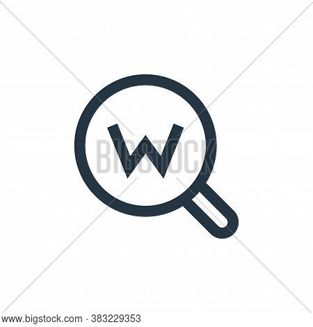 keywords icon isolated on white background from marketing collection. keywords icon trendy and moder