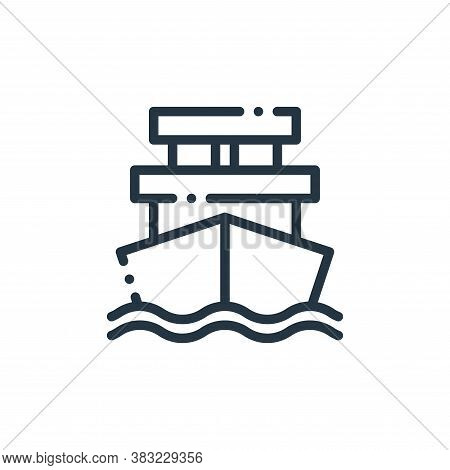 ship icon isolated on white background from travel and adventure collection. ship icon trendy and mo