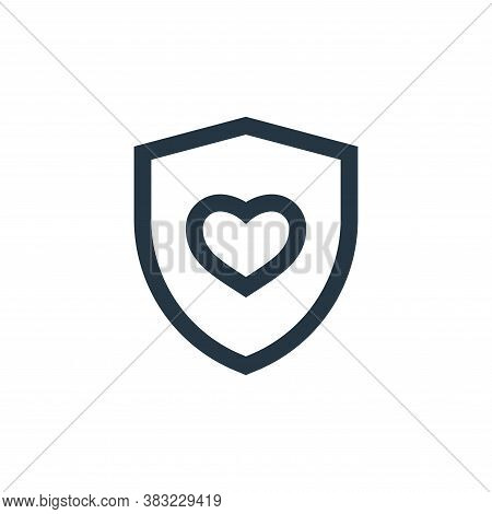 shield icon isolated on white background from medical collection. shield icon trendy and modern shie