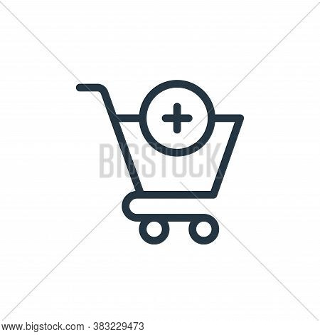 add to cart icon isolated on white background from ecommerce shopping collection. add to cart icon t
