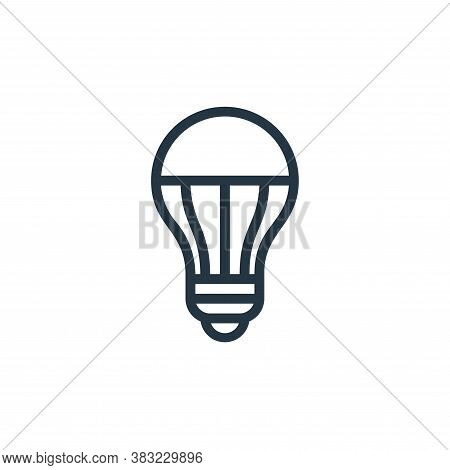 led lamp icon isolated on white background from ecology line collection. led lamp icon trendy and mo