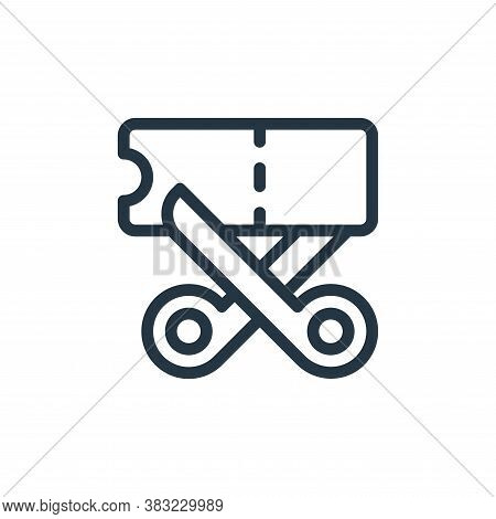 coupon icon isolated on white background from ecommerce shopping collection. coupon icon trendy and