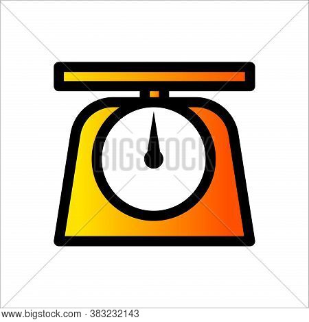 Analog Weight Scale Icon. Weight Scale Vector. Weight Measurement Icon. Weight Scale Template. Scale