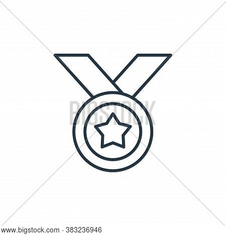 medal icon isolated on white background from racing collection. medal icon trendy and modern medal s