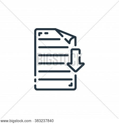 download icon isolated on white background from documents collection. download icon trendy and moder