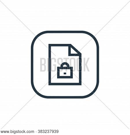 locked icon isolated on white background from files and folders collection. locked icon trendy and m