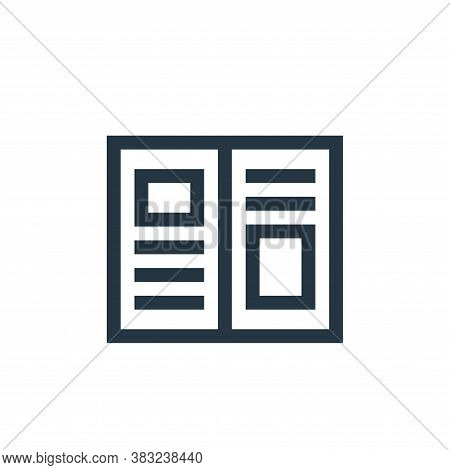 editorial icon isolated on white background from graphic design collection. editorial icon trendy an