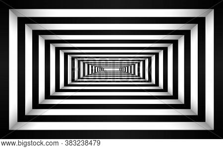 The Black And White Tunnel Texture Background