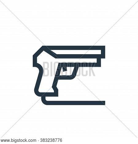 gun icon isolated on white background from esports collection. gun icon trendy and modern gun symbol