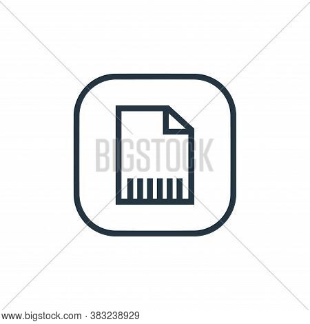 delete file icon isolated on white background from files and folders collection. delete file icon tr