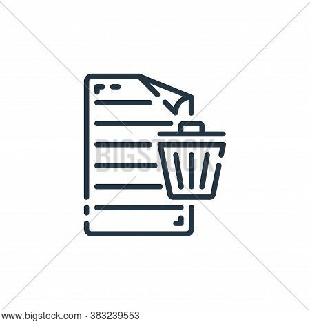 delete icon isolated on white background from documents collection. delete icon trendy and modern de