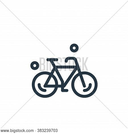 bicycle icon isolated on white background from spring collection. bicycle icon trendy and modern bic