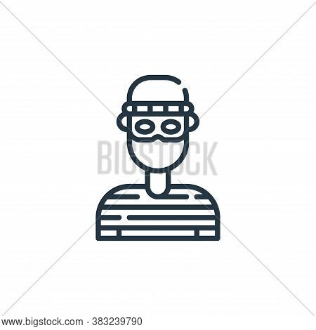 thief icon isolated on white background from law and justice collection. thief icon trendy and moder