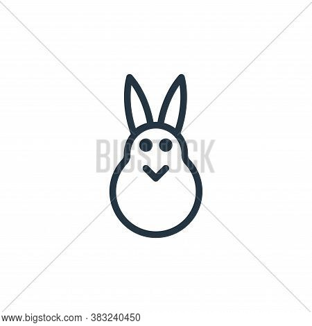 easter bunny icon isolated on white background from spring collection. easter bunny icon trendy and